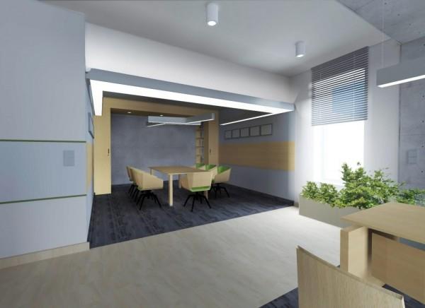 Oświetlenie sali konferencyjnej we współpracy z pracownią architektoniczną ARH+ z Białegostoku