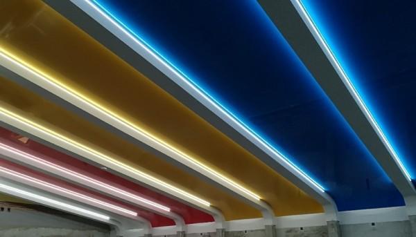 Oświetlenie LED na basenie w Słupii przy współpracy z p. Andrzejem Lorensem PLAFOND