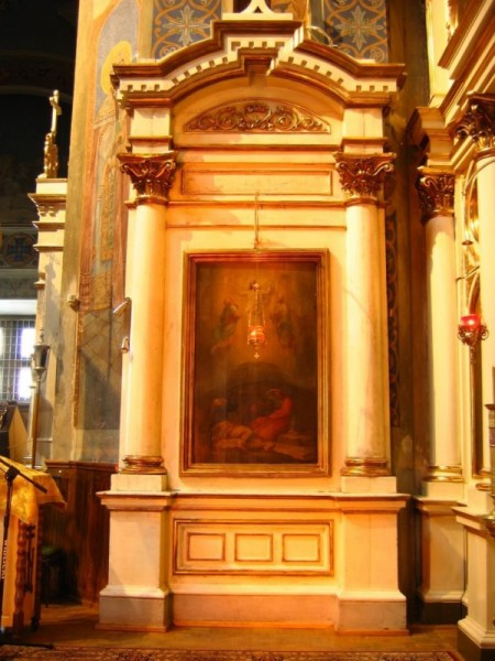 Próba oświetlenia wnętrza Cerkwi pw. Św. Mikołaja w Białymstoku