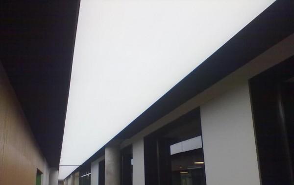 Oświetlenie Barrisol w biurowcu przy współpracy z p. Andrzejem Poczobutem