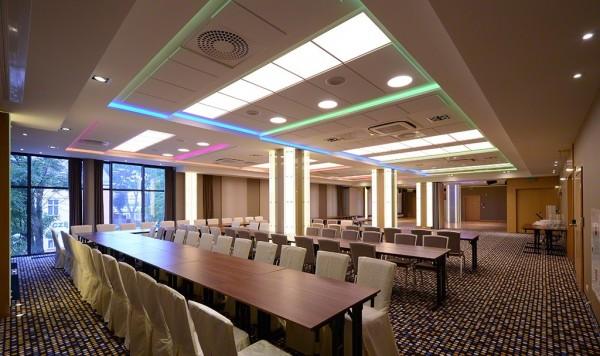 Oświetlenie Barrisolu w Sali Bankietowej w Hotelu Velvet przy współpracy z p. Andrzejem Poczobutem AGI