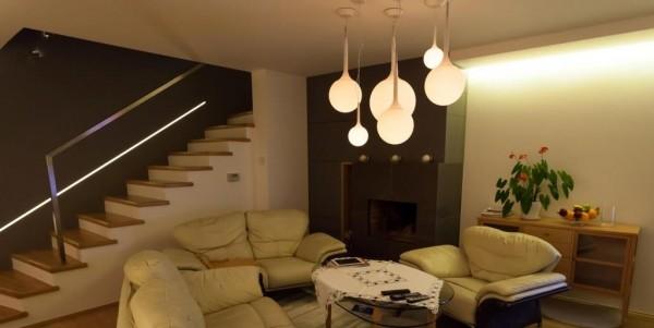 Oświetlenie domu wg. arch. Ewy Mykowskiej i arch. Piotra Gawryluka