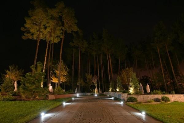 Oświetlenie ogrodu pod Łomżą