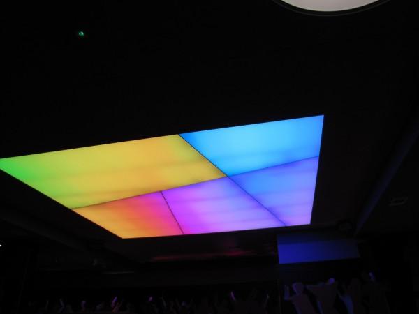 Oświetlenie Barrisolu w Klubie Mirage w Konarach przy współpracy z p. Wojciechem Lechem