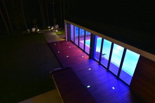 Oświetlenie solarne przy domu prywatnym pod Łomżą