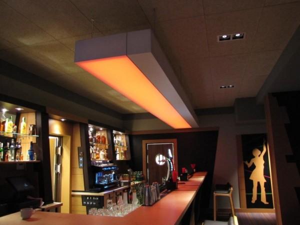 Oświetlenie lampy Barrisol w Klubie Mirage w Konarach przy współpracy z p. Wojciechem Lechem