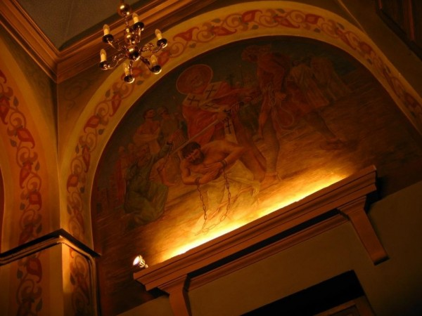Oświetlenie wnętrza Cerkwi pw. Św. Mikołaja w Białymstoku