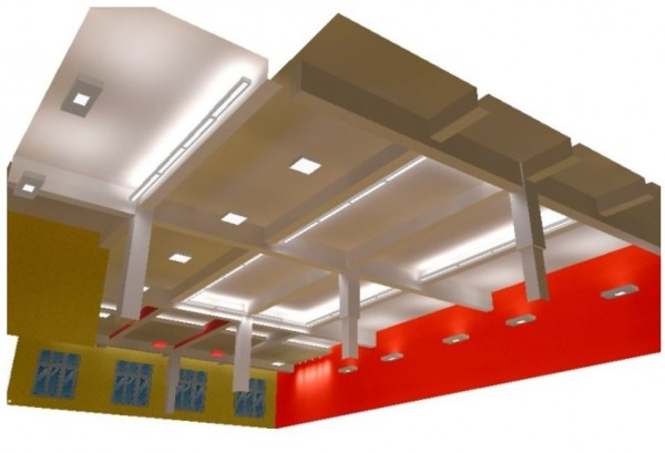 projekt 3D oświetleniowca