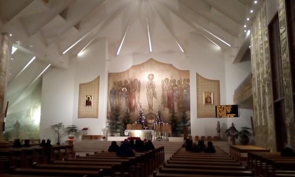 Przykład oświetlenia wnętrza Kościoła