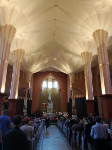 Rekonstrukcja oświetlenia wnętrza Kościoła pw. MB Fatimskiej w Białymstoku - opcja LED