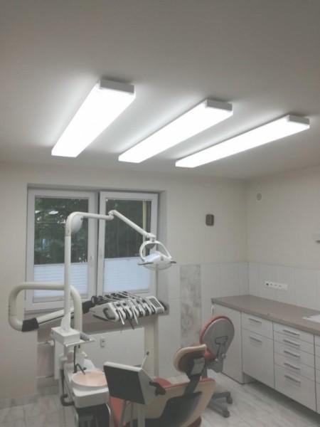 Oświetlenie gabinetu dentystycznego dr Sabaniec wg arch. Jolanty Szemiot