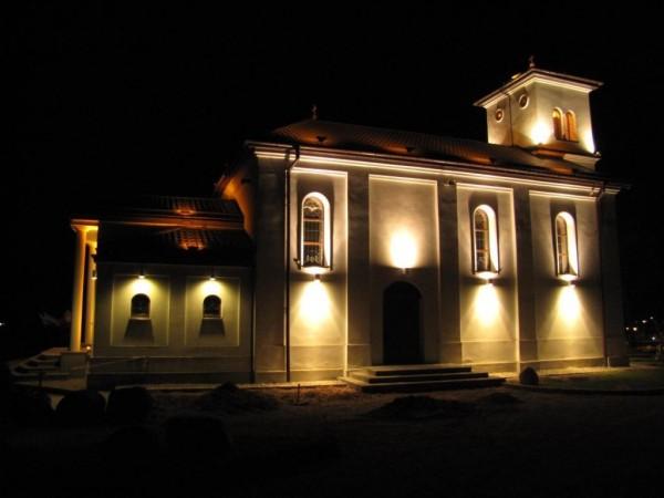 Przykład iluminacji Kościoła