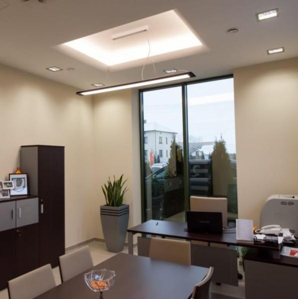 Oświetlenie biur w Banku SBR w Piekutach