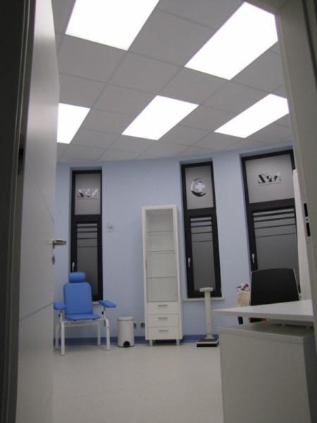 Oświetlenie gabinetów lekarskich w Centrum Medycznym Ryska w Białymstoku