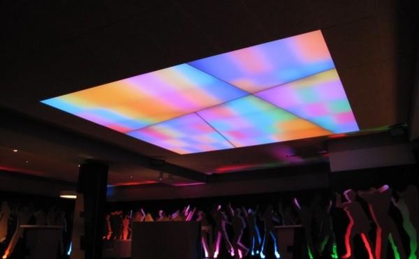 Oświetlenie Barrisol w klubie Mirage w Konarach przy współpracy z p. Wojciechem Lechem