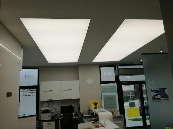 Oświetlenie recepcji w Centrum Medycznym Ryska w Białymstoku