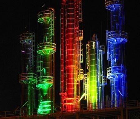 kosmodrom stworzony światłem LED