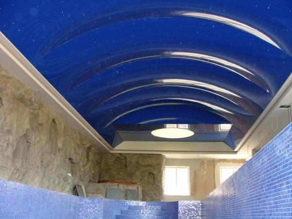 Oświetlenie Barrisol na prywatnym basenie przy współpracy z p. Andrzejem Poczobutem